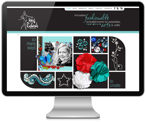 Mark Richards Website by Angel Hartline Designs